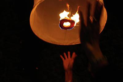 Hand Photograph - Loi Krathong Festival, Thailand by Kat Payne Photography