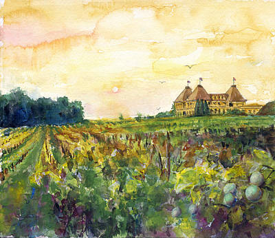 Painting - Loire Valley by John D Benson