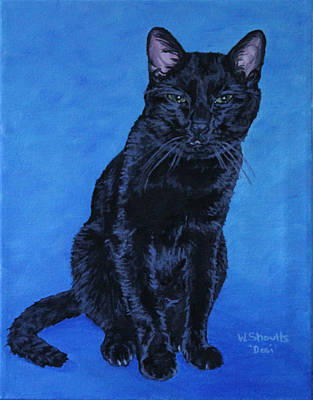 Art Print featuring the painting Loki by Wendy Shoults