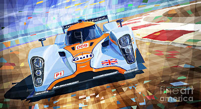 2009 Mixed Media - Lola Aston Martin Lmp1 Racing Le Mans Series 2009 by Yuriy  Shevchuk