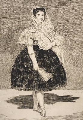 Spanish Shawl Painting - Lola De Valence by Edouard Manet