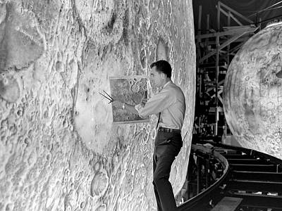 Painter Photograph - Lola Lunar Landing Simulator by Nasa/langley Research Center