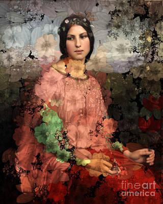 Digital Art - Lolita - Des Femmes Et Des Fleurs 01 by Aimelle