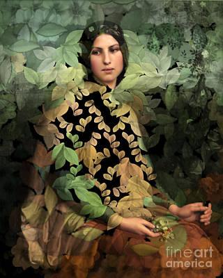 Digital Art - Lolita - Des Femmes Et Des Fleurs 0102 by Aimelle