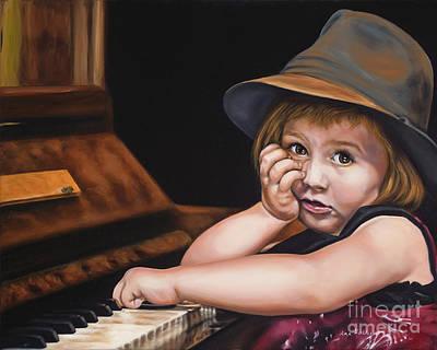 Ann Holder Painting - Lollipop Blues by Ann Holder