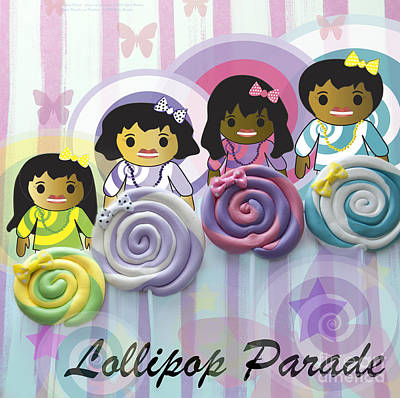 Digital Art - Lollipop Parade by Affini Woodley