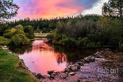 Hot Creek Photograph - Lolo Hot Springs Creek by Robert Bales