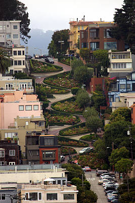 San Francisco - California Photograph - Lombard Street by David Salter