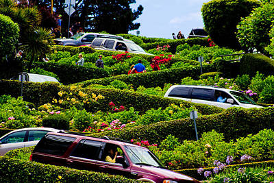 Lombard Street San Francisco  Art Print by John McGraw