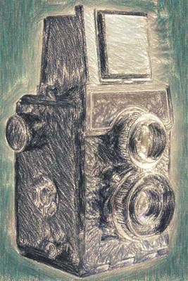 Old Objects Drawing - Lomo by Taylan Apukovska