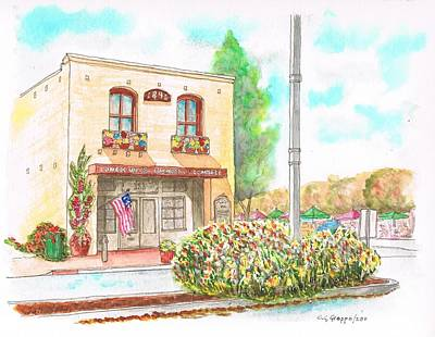 Chamber Pot Painting - Lompoc Chamber Of Comerce - Lompoc - California by Carlos G Groppa