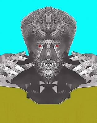 Transformation Mixed Media - Lon Chaney Jr Alias In The Wolf Man by Art Cinema Gallery
