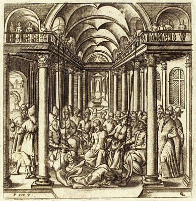 Léonard Gaultier, French 1561-1641, Christ Heals Art Print