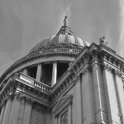 London St Pauls Cathedral Art Print by Cheryl Miller