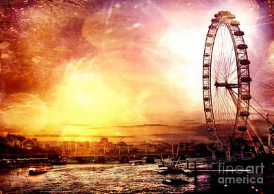 Eye Photograph - London - London Eye by Justyna JBJart