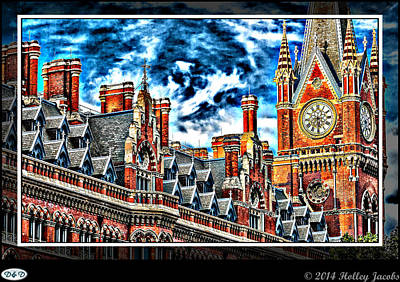 Digital Art - London 4 by Holley Jacobs