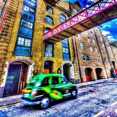 Vintage Taxi Cabs Photograph - London Art by David Pyatt
