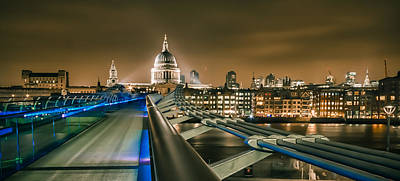 St Pauls Cathedral Photograph - London At Night by Ian Hufton