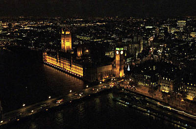 Photograph - London At Night by Katie Wing Vigil
