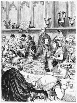 London Banquet, 1872 Art Print by Granger