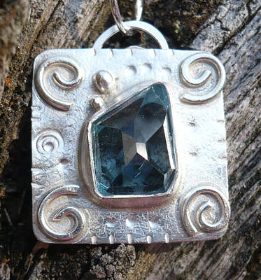 Jewelry - London Blue Topaz Pendant by Arianna Bara