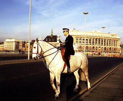 Photograph - London Bobby On Horseback by Robert  Rodvik