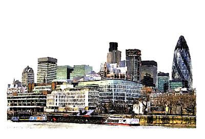 Feed Mill Digital Art - London by Brenda Leedy