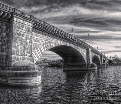 London Bridge In Black And White Art Print by Gregory Dyer