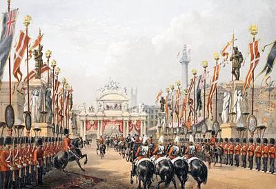 Royal Wedding Drawing - London Bridge, Kept By The Honourable by English School