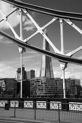 London Bridge With The Shard Art Print by Chevy Fleet