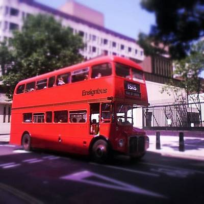 Icon Photograph - London Bus  by Sean Cahill