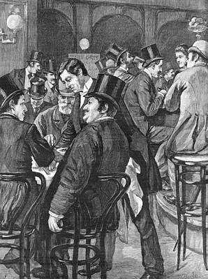 London Businessmen At Lunch, 1891 Art Print by  Illustrated London News Ltd/Mar