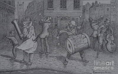 London Buskers 1853 Art Print