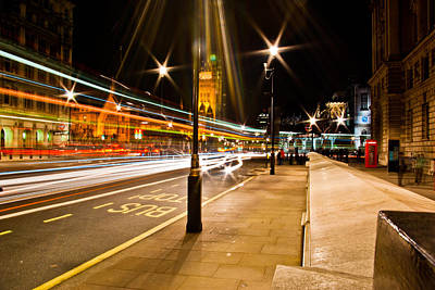 London By Night Art Print by Gabor Fichtacher
