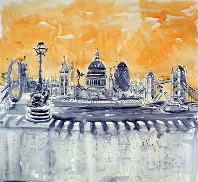 London Painting - London By Night by Kovacs Anna Brigitta