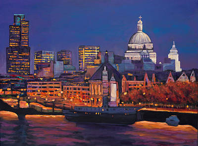 Colorful Boats Wall Art - Painting - London Calling. by Johnathan Harris