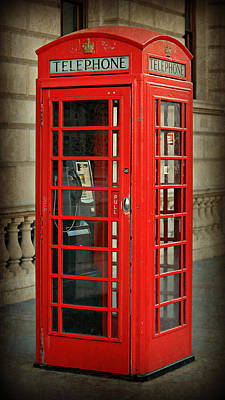 Phone Booth Photograph - London Calling by Stephen Stookey