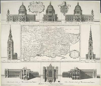 London Churches Art Print by British Library