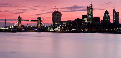 River Thames Photograph - London City Skyline by Matthew Train