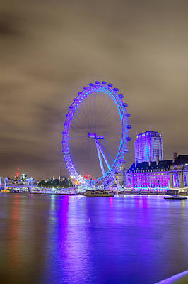 Photograph - London Cityscape At Night by Leah Palmer