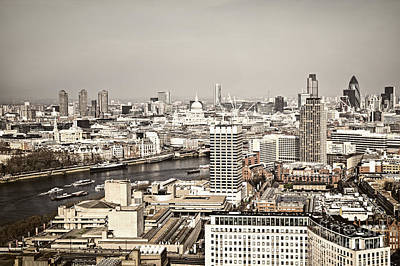 London Skyline Royalty-Free and Rights-Managed Images - London cityscape by Elena Elisseeva