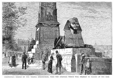 Obelisk Painting - London Cleopatra's Needle by Granger