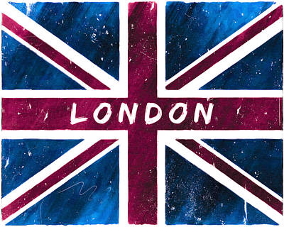 Digital Art - London Distressed Union Jack Flag by Mark E Tisdale