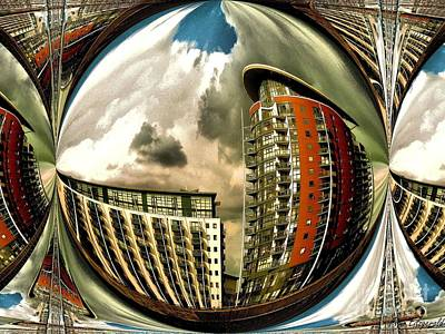 Digital Art - London Docklands Contemporary Architecture by Flow Fitzgerald