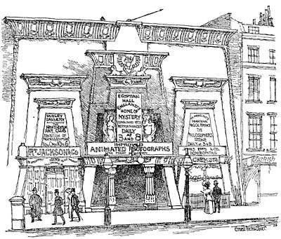 Drawing - London Egyptian Hall by Granger