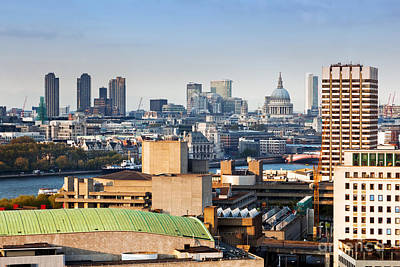 Finance Photograph - London England Aarial View On The City And St Pauls Cathedral by Michal Bednarek