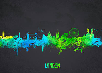 London Eye Digital Art - London England by Aged Pixel