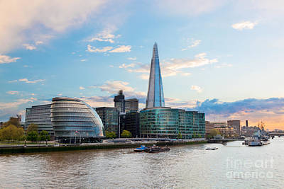 Outdoors Photograph - London England The Uk The Shard by Michal Bednarek