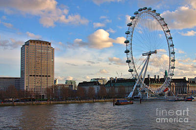 Photograph - London Eye And Shell Building by Jeremy Hayden