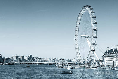 Photograph - London Eye And The River Thames In London. by Peter Noyce